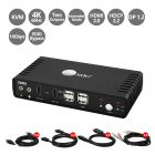 2-Port HDMI 2.0 Dual-Head Console KVM Switch with USB 2.0