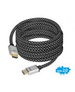 Woven Braided High Speed HDMI Cable 5m - UHD 4Kx2K