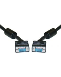 SVGA HD15 M/M Shielded Video Cable with Ferrite - 50ft