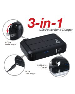 3-in-1 Power Bank Charger