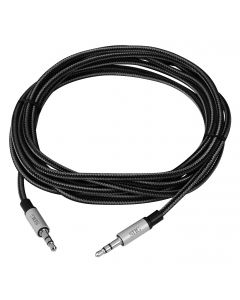 Woven Fabric Braided 3.5mm Stereo Aux Cable (M/M) - 3M
