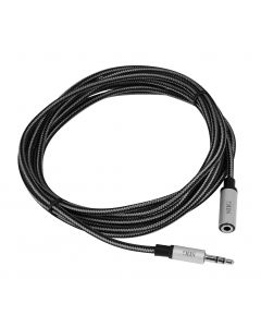 Woven Fabric Braided 3.5mm Stereo Aux Cable (M/F) - 3M