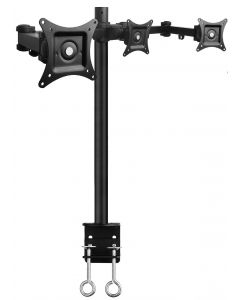 "Articulating Triple Monitor Desk Mount - 13"" to 27"""