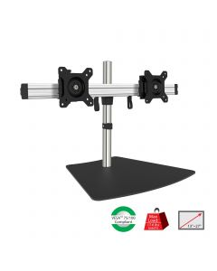 "Easy-Adjust Dual Monitor Desk Stand - 13"" to 27"""