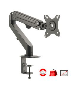 Single Gas Spring C-Clamp Desk Mount - 27""