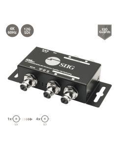 1x4 12G SDI Distribution Amplifier