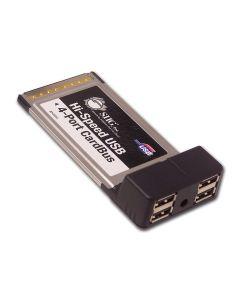 Hi-Speed USB 4-Port Cardbus