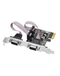 2-Port RS232 Serial PCIe with 16950 UART Front View