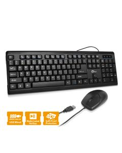 USB Keyboard & Mouse Combo - Black
