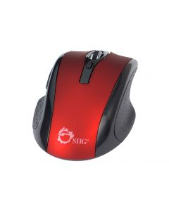 6-Button Ergonomic Wireless Optical Mouse - Red