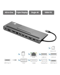 Aluminum USB-C MST Video Docking Station with PD