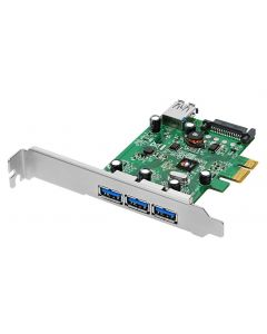 DP USB 3.0 4-Port PCIe i/e Front View