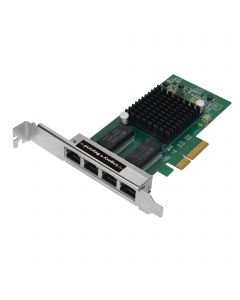 Quad-Port Gigabit Ethernet PCIe 4-Lane Card - I350-T4