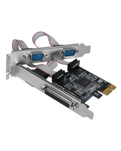 Dual-Serial Port plus Single Parallel Port PCIe Card