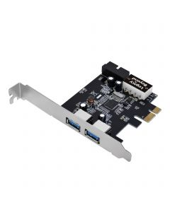 USB 3.0 4-Port (2-Ext plus19-pin header) PCIe Host Card