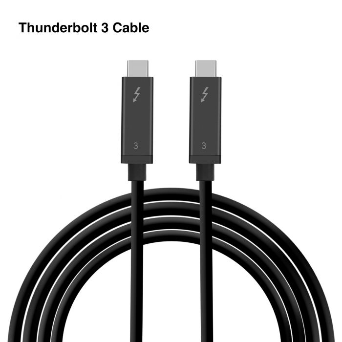2m Thunderbolt 3 USB-C USB 3.1 Male to Thunderbolt3 Male Cable for PC /& Laptop