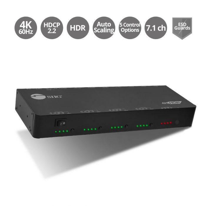 4x4 HDMI 2 0 4K HDR Matrix Switch with Cloud Control