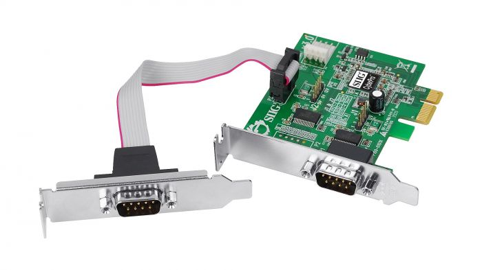 SIIG CyberPro Dual Serial PCI Adapter CYBERPRO-PCI-2S 9Pin V.60 JJ-P020G3-S6 Card