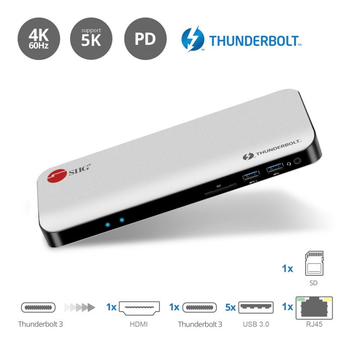 Thunderbolt 3 Dual 4K Video Docking Station with Power Delivery