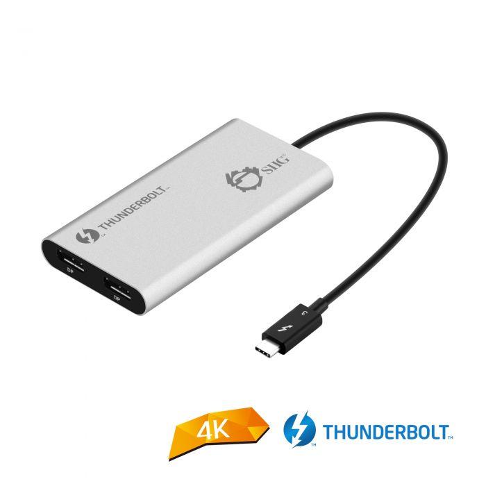 Thunderbolt V3 (USB-C) to Dual DisplayPort Adapter - DP, 1 2 4K@60Hz